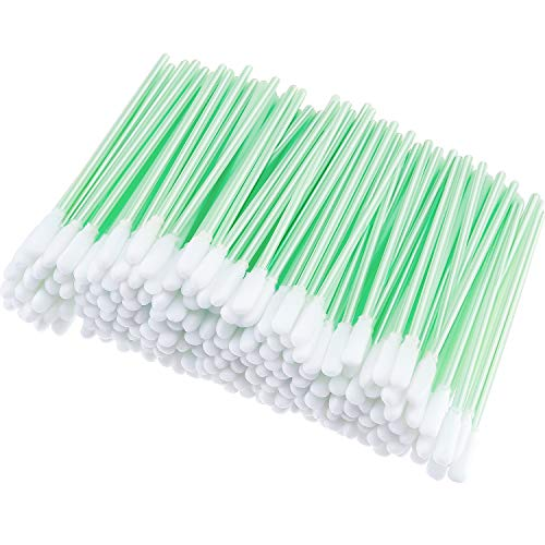 200 Pieces Foam Swab Cleaning Swab Foam Tips Sponge Stick for Inkjet Printer Print Head Camera Optical Lens Optical Equipment (Green, 9.3 cm)