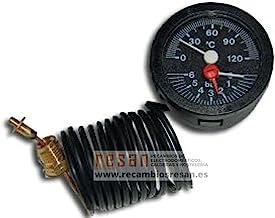 Thermometer, 0-120°/0-6 bar, diameter 52 mm, 14 x 1 mm.