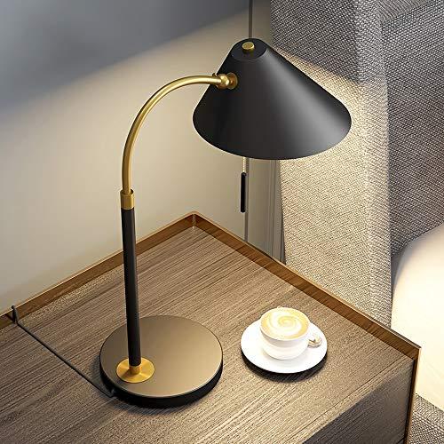 YGH Tischlampe, Nordic Kreative Tischlampe, Justierbare Tischlampe, Eisen Dekoration Geräte Lampe, Zugschalter, Benutzt for Schlafzimmer, Wohnzimmer, Arbeitszimmer, Büromöbel Beleuchtung