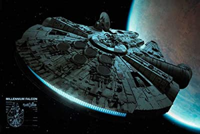 Empire poster Star Wars Faucuon Millenium avec accessoire de suspension