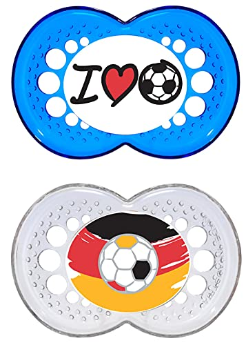 MAM 66706006 - Original, Ciuccio in silicone 16+ mesi, motivo: calcio – Istruzioni in lingua straniera