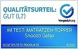 Gel-Schaum Topper Matratzenauflage | 7cm Gesamthöhe | waschbarer Bezug mit 3D-Mesh-Klimaband und Stegkanten | Raumgewicht RG 50 | 140 x 200 cm - 6