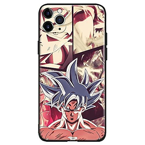 HOKAIKIN Funda de silicona suave para iPhone 12 Pro Anime (Super Saiyan White SSJ Goku Dragon Ball Super DBS)
