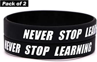 AVEC JOIE Inspirational Silicone Bracelets Rubber Bands Wristbands with Motivational Saying in Unisex Adult Size Wrist Band Gift for Teens Men Women