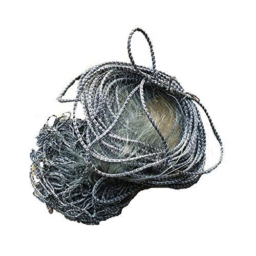 1yess Netzs H1.8m L30m 1layer 5cm Mesh-Kiemennetzen fischen Netzwerk Schwimmer Netto-Barracuda Fischernetz im Freien