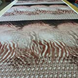 1,3 Meter Stoff Polyester Chiffon Flamme beige braun