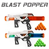 Exercise N Play 2 PCS Power Popper Gun Dual Battle Pack Foam Ball Air Powered Shooter Toy Guns for Kids Role Playing with Their Family Members or Partners