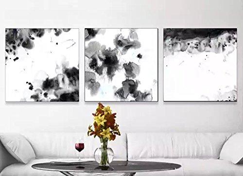 VV Art abstrait Style chinois contemporain Peinture sur toile Décoration murale moderne Art Picture Salon Impression sur toile Painting-large sur toile Paysage encadrée prête à suspendre