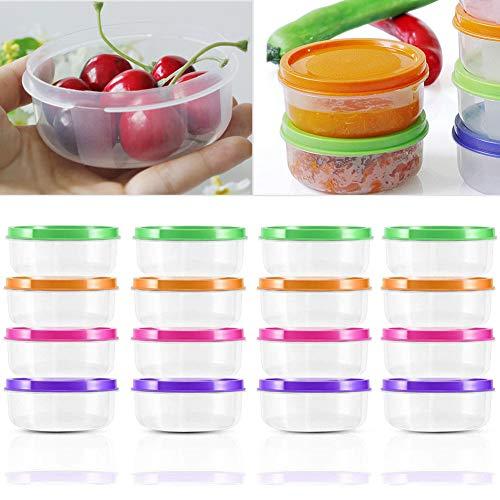 BESLIME contenitori per Alimenti - contenitori di conservazione degli Alimenti di plastica riutilizzabili con coperchi impilabili per microonde Freezer lavastoviglie Lunch Box,16pcs