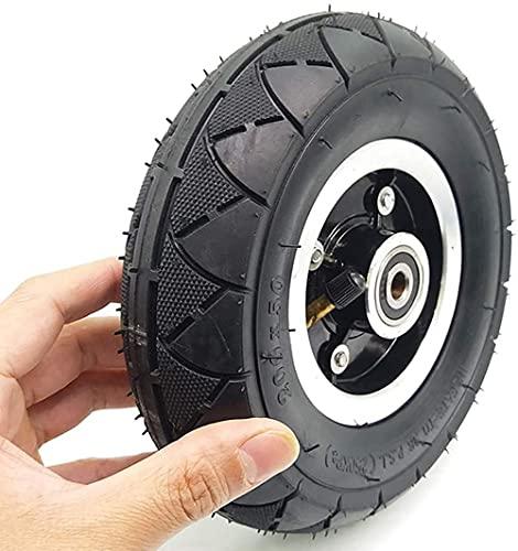 HZWDD Neumático Inflable para Scooter, Juego Externo de Goma y Tubo Interior de Goma Liviana sólida de 8 Pulgadas Compatible con neumático del Aire o Eje sólido del Metal del neumático