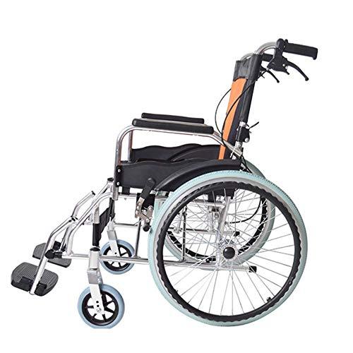 LIANGANAN Silla médica de rehabilitación, sillas de ruedas, ligero plegable de aluminio de aleación de ruedas de conducción médica médica for adultos Material de ancianos discapacitados tranvía