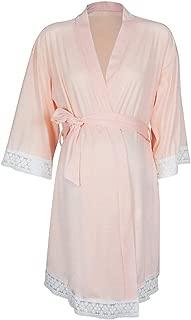 Women Maternity Labor Delivery Gown Dress Breastfeeding Nightshirt Lace Sleepwear Dresses