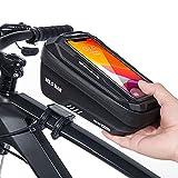CHICLEW Bolsa Bicicleta, Accesorios Bicicleta Impermeable Soporte Móvil Bicicleta con Ventana de Pantalla Táctil y Cubierta a Prueba de Lluvia, para Teléfono Inteligente por Debajo de 6,7 Pulgadas