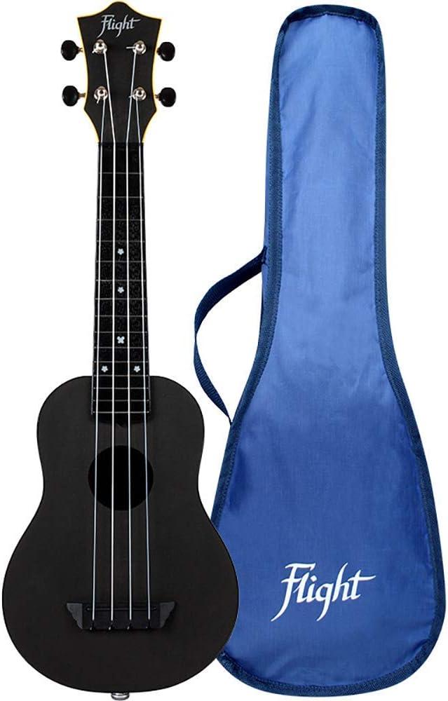 Flight 4-String Max 45% Chicago Mall OFF Electro-acoustic Travel Soprano Ukulele - Black