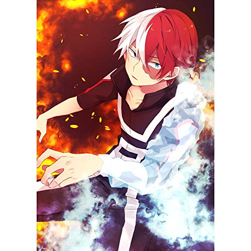 yanqiu My Hero Academia Character Fade Art Print Wall Scroll Poster Hanging Painting Japanese Anime Home Decoration Cloth Poster 20x30cm / 7.8