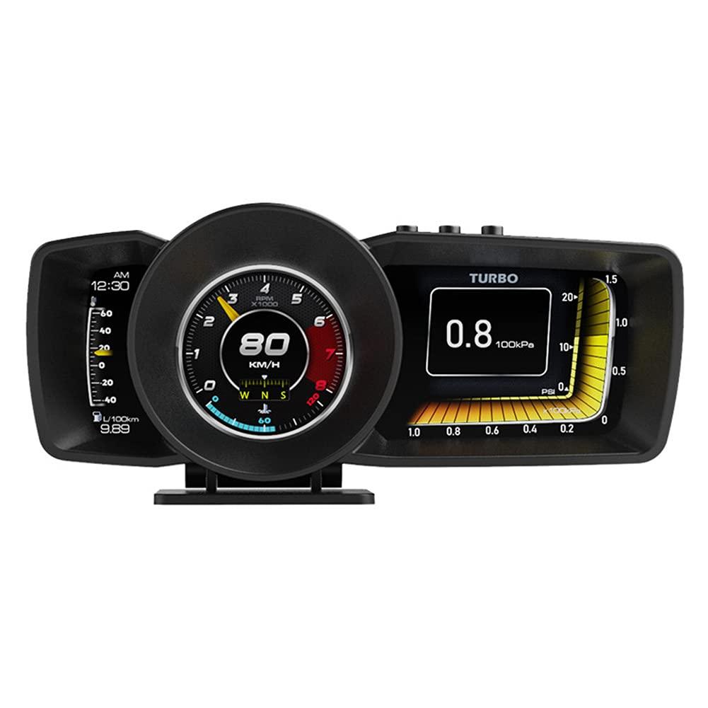 SOBW OBD GPS Smart Gauge, universal Auto HUD OBD + GPS Head-Up Display Instrumento Inteligente LCD Dashboard Head-Up Display Medidor de kilometraje del coche