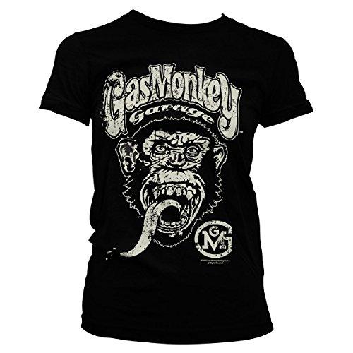 Gas Monkey Garage Oficialmente Licenciado Logo Mujer Camiseta