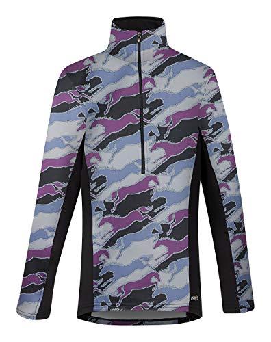 Kerrits Kids Counter Canter Fleece Half Zip Boysenberry Unbridled Horse Size: Extra Large