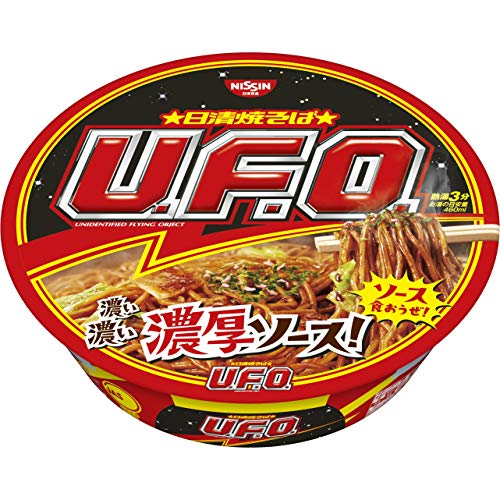Japanese Instant Pan-fried Noodles UFO 4.5oz12cups nissin Yakisoba U.f.o. 129g12cups