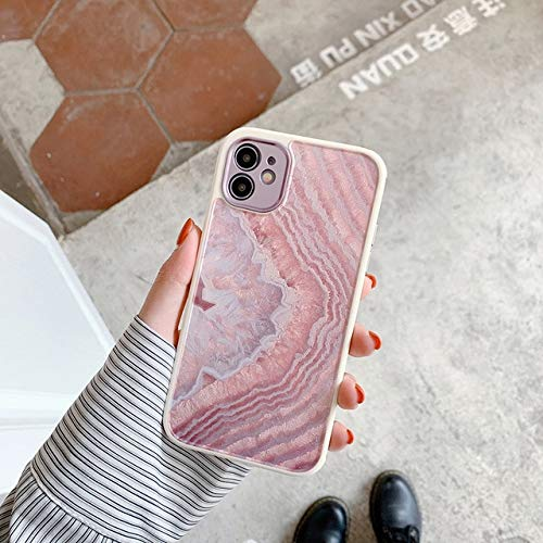 VHR Fundas Cute Love Heart Flower Leaf Phone Case para iPhone 12 11 Pro MAX 12 Mini 8 7 Plus X XS MAX XR Marble Wartercolor Painting Cover para iPhone 12 Pro T10