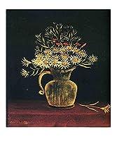 ルソー静物油絵インテリア アートポスター 絵画飾り絵 複製名画プレゼント-リビング 、ダイニング 、オフィス 、バー、お風呂、寝室(40x56cm(16x22inch)、フレームレス)