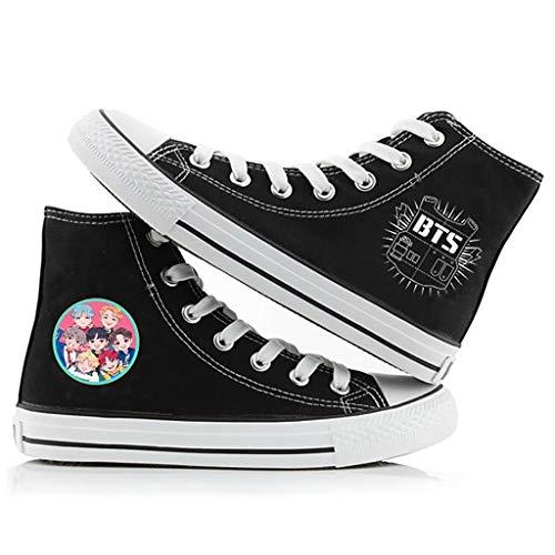 HJJ BTS Classic - Zapatos de lona Kpop a la moda transpirables para parejas, estilo...