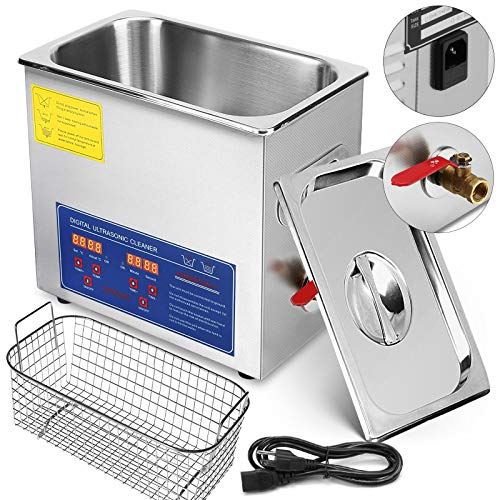 FORAVER Ultrasonic Cleaner Stainless Steel Ultrasonic Cleaning Machine with Digital Heater Timer Jewelry Cleaner Commercial Personal Home Use (10L)