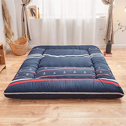 DTNSSTB Japanische Bodenmatratze Futon Matratze, 8 cm Verdicken Tatami Matte Isomatte Faltbare Rollmatratze Jungen Mädchen Schlafsaal Matratze 200x220cm