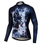 Men's Cycling Jersey Long Sleeve Pro Brand Team Reflective Bicycle Shirts Jacket Fly Skull