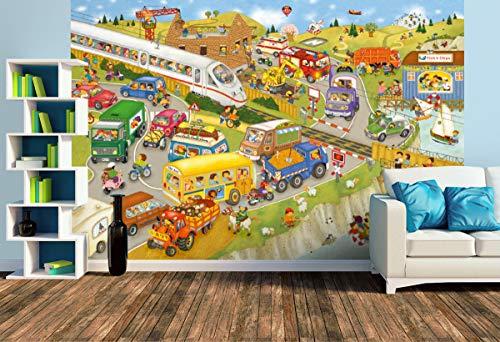 Premium Foto-Tapete Unterwegs (versch. Größen) (Size L   372 x 248 cm) Design-Tapete, Wand-Tapete, Wand-Dekoration, Photo-Tapete, Markenqualität von ERFURT