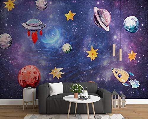 Dream fashion 3d wallpaper Nordic pintado a mano sky universe habitación infantil fondo papeles de pared decoración del hogar pintura 400×280cm