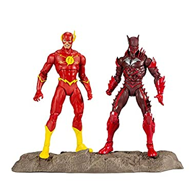 McFarlane Toys DC Multiverse Earth -52 Batman (Red Death) and The Flash 7″ Action Figure Multipack