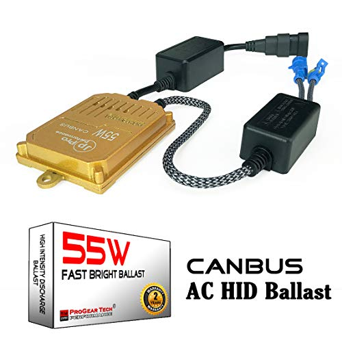 55W Heavy Duty Fast Bright AC Digital CANBUS HID Xenon Replacement Ballast for 12V Vehicles Aftermarket HID System (Pack of 1)