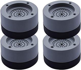 BBABBT Cuscinetti antivibranti Piedini Anti Camminata per lavatrici e asciugatrici, Neri, Confezione da 4