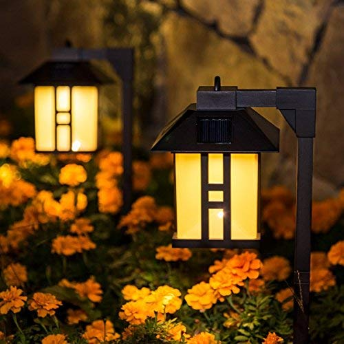 GIGALUMI Solar Powered Path Lights, Solar Garden Lights Outdoor, Landscape Lighting for Lawn/Patio/Yard/Pathway/Walkway/Driveway (4 Pack)…