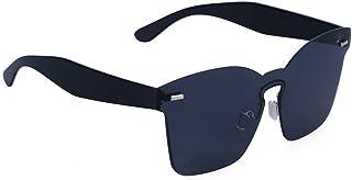 db4b904dde OULII Gafas de Sol sin Marco de Color Caramelo de Moda Una Pieza de Espejo  Unisex