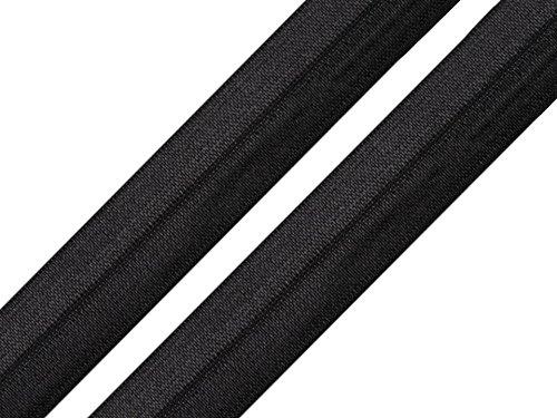 Schnoschi 2 Meter elastisches Einfassband 20 mm schwarz