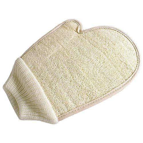 Luffa-Handschuh Peeling-Handschuh Pads Badeschwamm Dusche Luffa Körpermassage Schrubber Handschuh für Dusche Spa und Bad