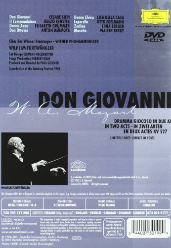 Mozart: Don Giovanni -- Vienna/Furtwangler [DVD] [1955]