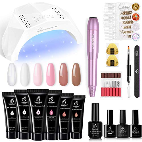Beetles Poly Nail Extension Gel Kit with...