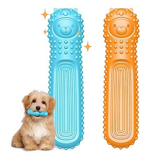 Juguetes masticables para perros, 2 juguetes de TPE para perros agresivos, entrenamiento y limpieza de dientes interactivos, juguetes para perros pequeños