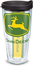 Tervis 1131105 John Deere Colossal Tumbler مع غلاف أسود 24 أونصة، شفاف
