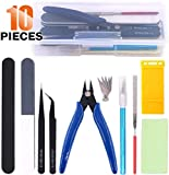 Rustark 10Pcs Model Tools Craft Set Modeler Building Kit for Gundam Basic Model Assembling, Building and Repairing