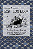 Boat Log Book: Boating Record Journal and Trip Memory Keeper