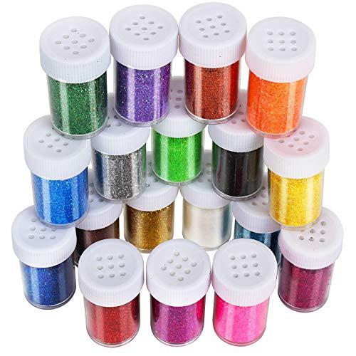 LEOBRO 18 Pack Glitter for Slime, LEOBRO...
