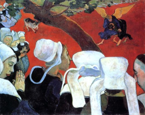 Art Oyster Paul Gauguin The Vision After The Sermon (Also Known as Jacob Wrestling The Angel) - 20