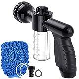 Foam Sprayer, Hoove Garden Hose Nozzle High Pressure 8 Spray Patterns Foam Blaster,Water Gun Garden for Watering Plants, Car Wash and Showering Pet