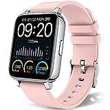 chalvh Smartwatch Mujer, 1.69' Táctil Completa Reloj Inteligente, Reloj Deportivo con Podómetro y Caloría, Pulsómetro, Monitor de Sueño, Pulsera Actividad Impermeable IP67 para iOS y Android (Rosa)
