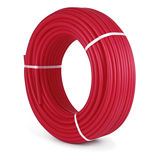 Happybuy 3/4' X 300Ft PEX Tubing Oxygen Barrier O2 EVOH Pex-B Red Hydronic Radiant Floor Heat Heating System Pex Pipe Pex Tube (3/4' O2-Barrier, 300Ft/Red)