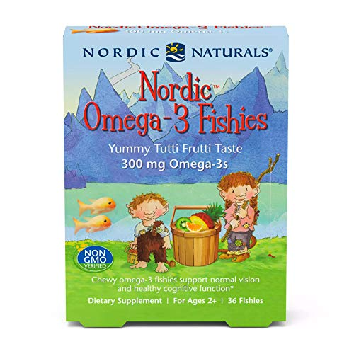 Nordic Naturals Nordic Omega-3 Fishies, Tutti Frutti - 36 Fishies - 300 mg Total Omega-3s with EPA & DHA - Healthy Brain, Mood, Vision & Immune System - Non-GMO - 36 Servings